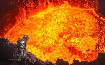 спуск в жерло вулкана