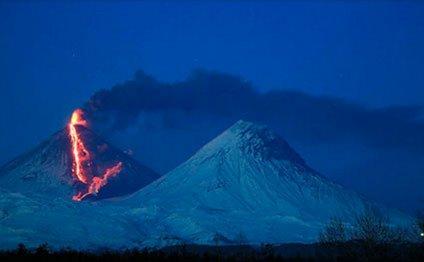 действующий вулкан Евразии