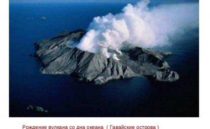 Рождение вулкана со дна океана