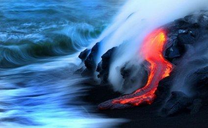 извержение вулкана (видео)