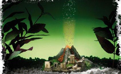 Вулкан для аквариума с